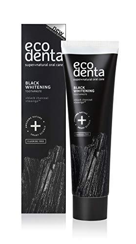 ecodenta Black Whitening schwarze Zahnpasta 100ml mit Aktivkohle