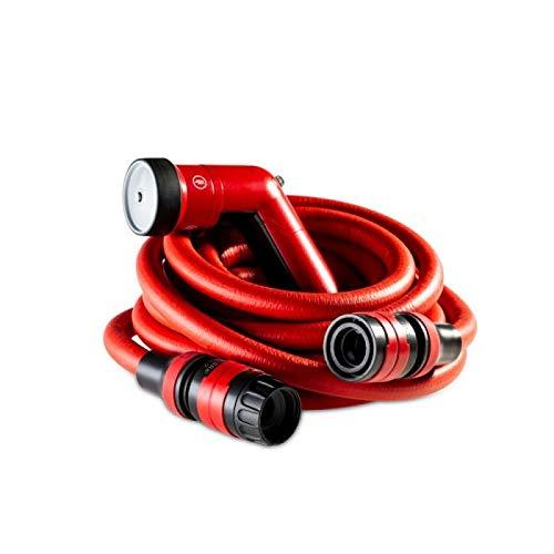 FITT YOYO GO Tubo Acqua da Giardino Estensibile per Irrigazione con Pistola Multigetto e Zainetto da Trasporto, Rosso, 20m 15m e 10m