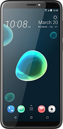 HTC Desire 12+ Smartphone (15,2 cm (6 Zoll) HD+ IPS-Display, 32GB interner Speicher und 3GB RAM, Dual-Sim, Android 8) Cool Black