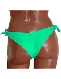 Culotte de maillot de bain - bas seul - bresilien - noir - corail fluo - rose fluo - bleu royal - vert - rouge