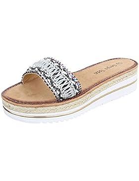 Pantoletten Damenschuhe Jazz & Modern Moderne Ital-Design Sandalen / Sandaletten