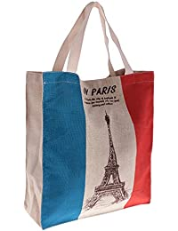 MagiDeal Eco-friendly Flag Design Easy Fold Shopping Tote Bag France