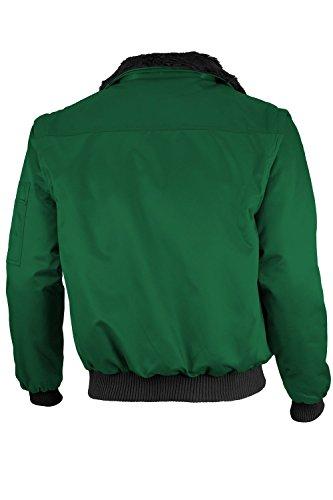 Qualitex - Pilotenjacke 4 in 1 - Kragen und Ärmel abtrennbar - mehrere Farben Grün