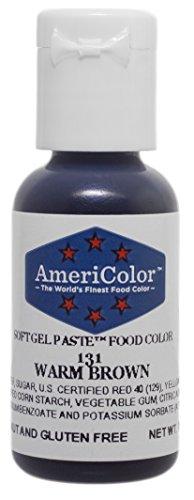 Americolor Soft Gel Paste Food Colour, Warm Brown (131), 21g