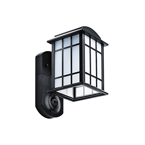 Kuna Smart Home Security Outdoor Light & Camera – Craftsman Black