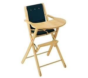 Chaise extra-pliante Elisa coussin bleu