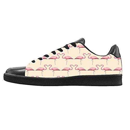 Dalliy Pink Flamingo Men's Canvas shoes Schuhe Lace-up High-top Sneakers Segeltuchschuhe Leinwand-Schuh-Turnschuhe B
