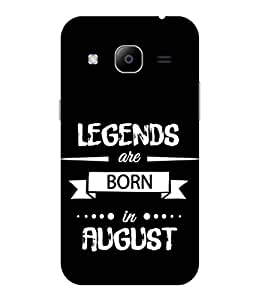 Print Opera Hard Plastic Designer Printed Phone Cover for samsunggalaxy j2 2016 Legends are born in august