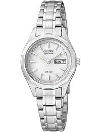 Citizen Damen-Armbanduhr Analog Quarz Edelstahl EW3140-51AE