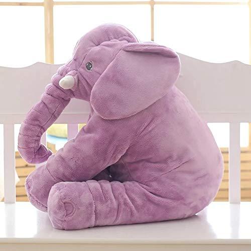 CGDZ Plüschspielzeug 40/60 cm Beschwichtigen Elefant Kissen Weiche Schlaf Stofftiere Plüschtiere Baby Playmate Geschenke Für Kinder lila 60 cm (Lila Elefant Stofftier)