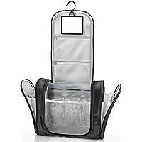 Neceser con suspensión y espejo + bolsillos interiores | Hombres, mujeres y niños – Bolso de tocador hidrófugo para viajar | Bolsa de aseo para maleta, accesorios de baño, equipaje de mano, outdoor
