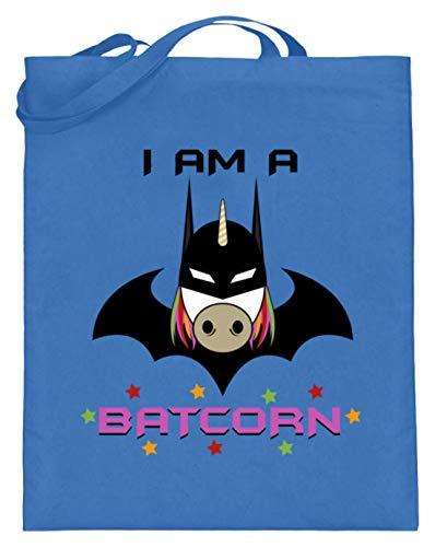 I Am A Batcorn - Fledermausmann, Superheld, Vorbild, Gotham City, Einhorn, Unicorn, Pferd - Jutebeutel (mit langen (Pferd Superheld Kostüm)