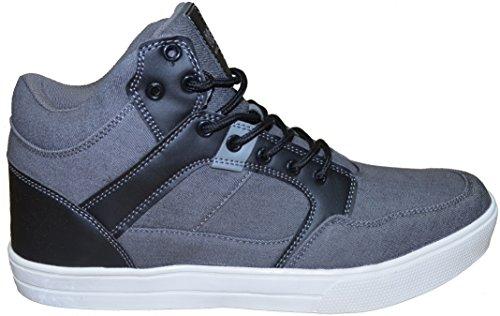 Twisted Faith , Baskets mode pour homme noir noir 47 Gris
