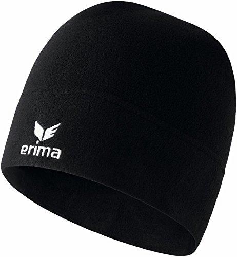 Erima Kinder Fleece Beanie Accessoires, Schwarz, XS | 04043523554564