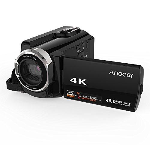 Andoer HDV-534K Mini DV 4K 48 MP WiFi Caméra vidéo numérique 1080P Full HD Novatek 96660 Puce 3 pouces Capacité écran tactile IR Infrarouge Night Sight Support 16X Zoom (manuel en français)