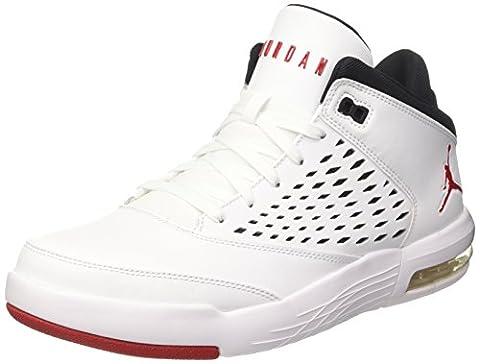 Nike Jordan Flight Origin 4, Chaussures de Basketball Homme, Blanc Cassé (White/Gym Red/Black), 43 EU