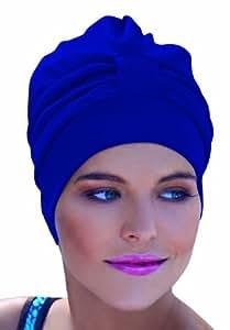 Fashy Women's 3473 50 Fabric Swim Turban with Velcro Strip - Blue