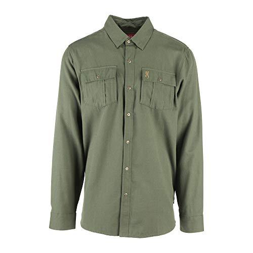 Browning Herren Charleston Shirt Button Down Hemd, Rifle Green, XX-Large -