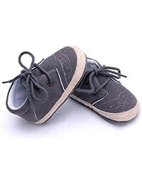 Tefamore Los zapatos infantiles recién nacidos del pesebre de los muchachos de las muchachas calzan los zapatos antideslizantes suaves de las zapatillas