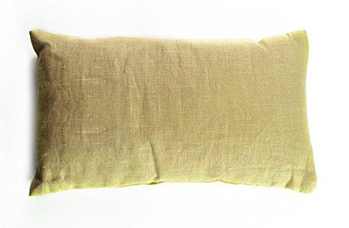 Siberian Treasure Kissen mit sibirischem Kiefernholz, 23x38 cm, Aromatherapie-Kissen, Bett- und Überwurfkissen 23x38cm gelb -