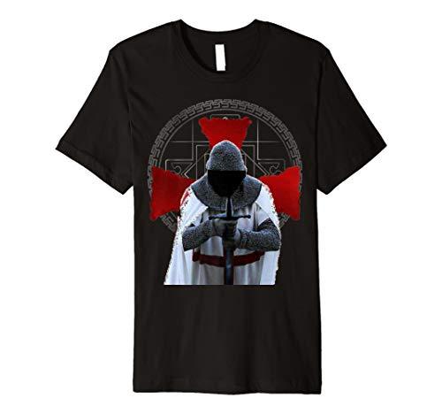 Templer Ritter T-Shirt Assassin Schwert und Kreuz