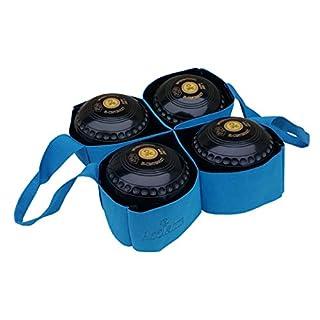 Acclaim Metz Nylon Four Bowl Level Lawn Flat Green Short Mat Indoor Outdoor Bowls Carrier (Blue)