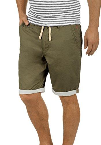 Blend Kankuro Herren Chino Shorts Bermuda Kurze Hose Mit Kordel Aus 100% Baumwolle Slim Fit, Größe:L, Farbe:Dusty Green - China Männer