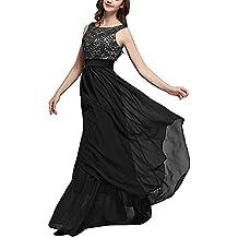 8c58ef0466bb carinacoco Donna Elegante Vestiti da Matrimonio Pizzo Abito in Chiffon  Lunghi Vestito Formale Banchetto Sera