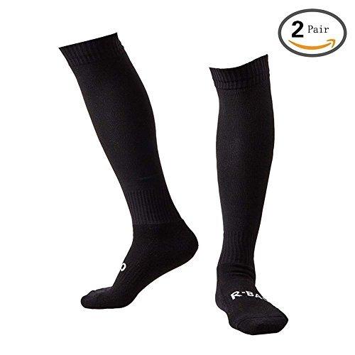 6703fdbfa13a Matari Men's Sports Athletic Compression Football Soccer Socks Over Knee  High Socks - Black -