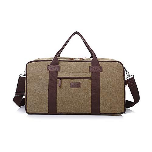 CX TECH Übergroße Leinwand Leder Reisetasche Leder Reisetasche Business Umhängetasche Reisetasche Crossbody Totes Carry Wasserdichte Reise tragbare Tasche -