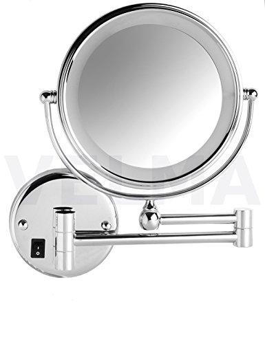VELMA - SWITCH AROUND - Direktanschluss - LED208NC 5x - Zweiseitig beleuchteter LED Kosmetikspiegel...