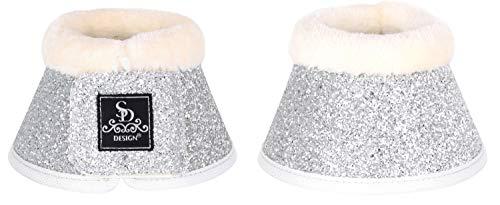 SD Design Glitter Bell Boots Silber Full/Warmblut Hufglocken