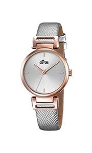 Lotus 18229/1 - Reloj de pulsera Mujer, Cuero, color Gris