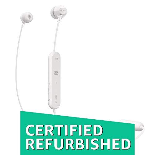 (Renewed) Sony WI-C300 Wireless In-Ear Headphones (White)