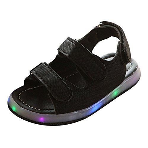 Kleinkind Jungen Mädchen Sandalen LED leuchten Schuhe schwarz Size 21 (Shoes Dc Kinder-tag)