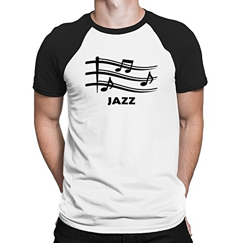 Teeburon Jazz musical notes Camiseta Raglan