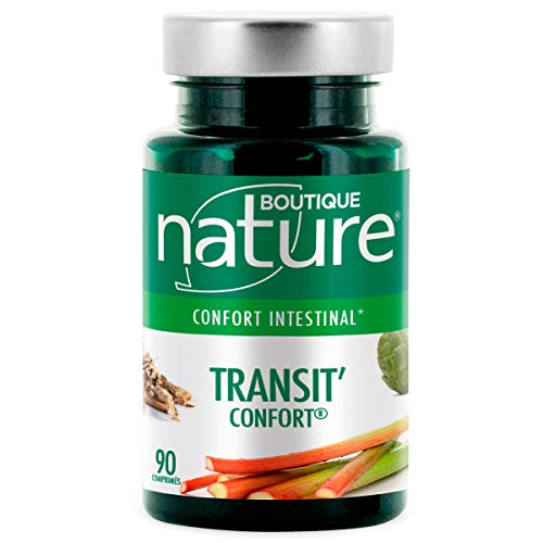 Boutique Nature - Complément Alimentaire - Transit'Confort - 90 Comprimés - Confort Intestinal