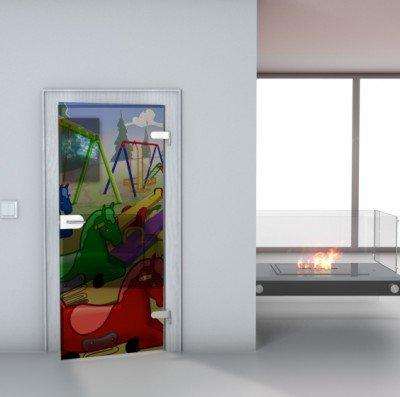"Glastürfolie Transparent selbstklebend ""Pferde"" Türfolie Glastür Folie Poster Türtapete Tapete Fototapete Türposter 90cm x 210cm"