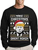 Green Turtle T-Shirts Make Christmas Great Again Trump Herren Ugly Christmas Sweater Sweatshirt X-Large Schwarz