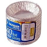 kingfisher Foil Pie Tartlet Cases, Argento, Piccolo, Confezione da 40