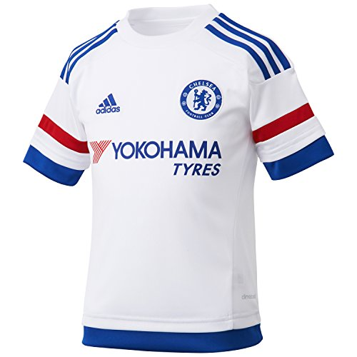adidas Kinder Trikot FC Replica Spieler-Auswärts White/Chelsea Blue/Power Red, 176 -