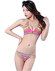 Bikini, Push-Up Oberteil mit vertsärkten Cups, 2-Teiler, Rot