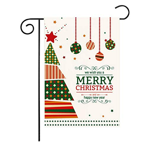 Banners & Accessories - Party Diy Christmas Santa Claus Snowman Garden Flags Hanging Decorative Home Decor Winter Snowflake - Garden 3 Artificial Cold Flag Iran Paper Year Gift & Snowfl -