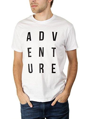 Adventure - Herren T-Shirt von Kater Likoli Weiß