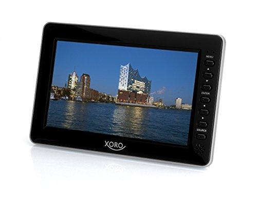 Xoro PTL 1010 26 cm (10,1 Zoll) Tragbarer DVB-T/T2 Fernseher (H265 HEVC, Mediaplayer, USB 2.0, MicroSD, Teleskopantenne, Fernbedienung) schwarz