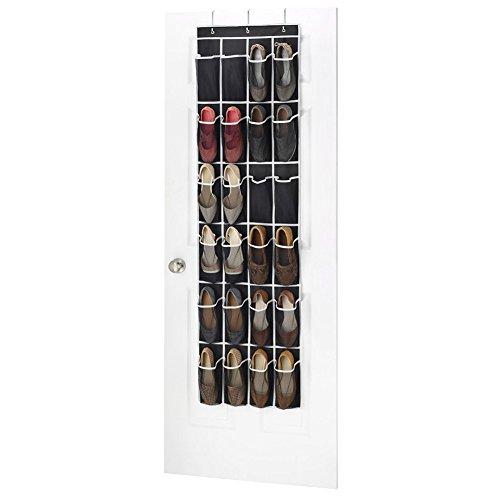 Ticent über der Tür Schuh Organizer – 24 Taschen Mesh Schuhe Aufhängen Für Spielzeug, Kinder, Frauen Schuhaufbewahrung (schwarz) (Hohe Qualität Kinder Kostüme)