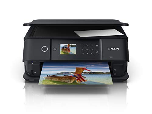 Epson Expression Premium XP-6100 3-in-1 Multifunktionsgerät Drucker (Scannen, Kopieren, WiFi, Duplex, 6,1 cm Display, Einzelpatronen, 5 Farben, DIN A4, Amazon Dash Replenishment-fähig) schwarz