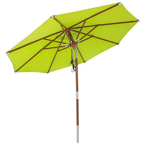 anndora® Sonnenschirm Balkonschirm Knicker 3 m rund knickbar + Winddach Apfelgrün/Limette