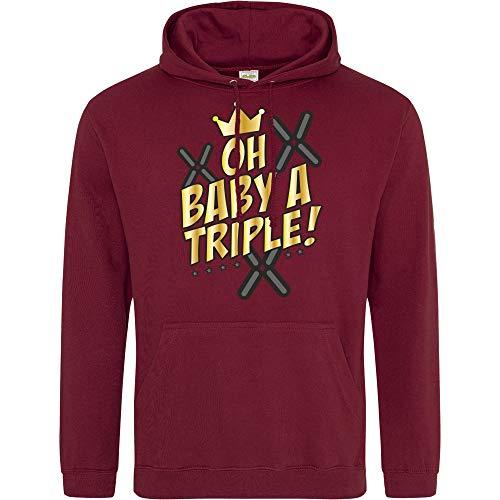 Oh Baby a Triple! - Hoodie, Bordeaux, Gr. S (Mlg Gaming-hoodie)