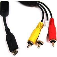 Câble Audio/Video pour Panasonic appareils photo numerique LumixDMC-: FT1, FT2, FX60, FX65, FX550, FX580, FZ38, GH1, TS1, TS2, TZ6, TZ7, TZ10, TZ65, ZS1, ZS3 et autres